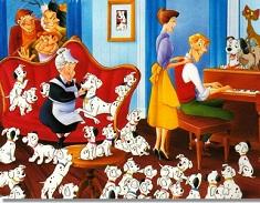 Puzzle cu Familia Dalmatienilor