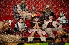 Puzzle cu Heidi si Familia