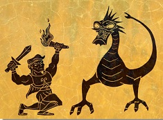 Puzzle cu Hercule si Dragonul