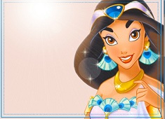 Puzzle cu Jasmine in Albastru
