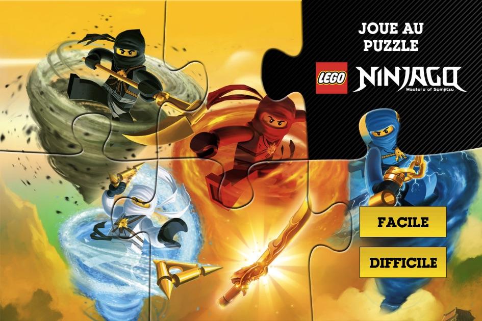Puzzle cu Lego Ninjago