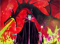 Puzzle cu Maleficent si Dragonul