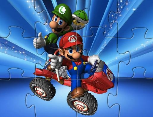Puzzle cu Mario la Condus