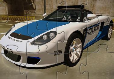 Puzzle cu Masina Porsche de Politie