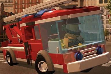 Puzzle cu Masini Lego cu Pompieri