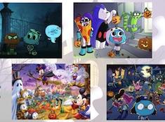 Puzzle cu Monstrii de Halloween