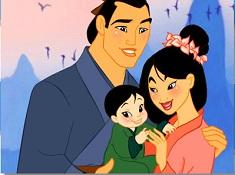 Puzzle cu Mulan si Familia