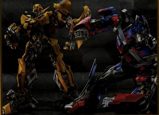Puzzle cu Optimus Prime si Bumblebee