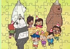 Puzzle cu Petrecerea We Bare Bears