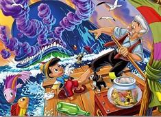Puzzle cu Pinocchio si Gepetto…
