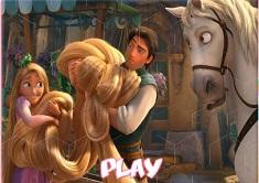 Puzzle Rapunzel cu Printul
