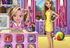 Rapunzel si Bebelusa la Lucru