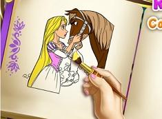 Rapunzel si Cartea de Colorat