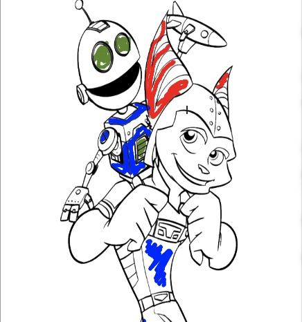 Ratchet si Clank de Colorat