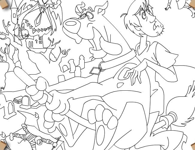 Scooby Doo si Shaggy de Colorat