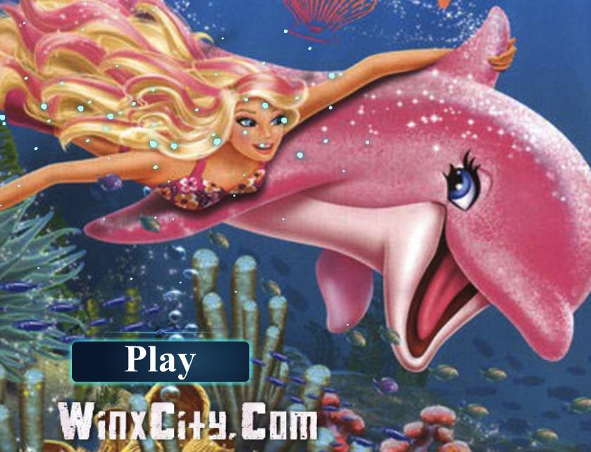 Sirena Barbie Inoata cu Delfinul