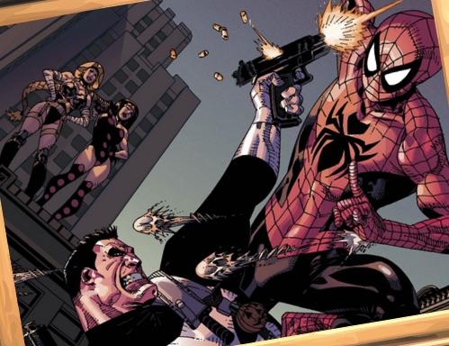 Spiderman Puzzle cu Punnisher