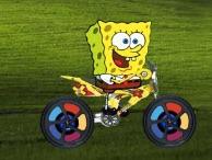 Spongebob cu Motocicleta