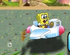 Spongebob Impuscaturi cu Avionul