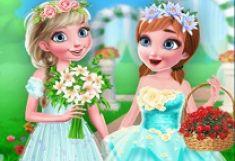 Surorile Frozen Fete cu Flori
