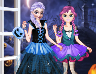 Surorile Frozen Primul Halloween