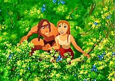 Tarzan si Jane Printre Flori