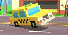 Taxi Pixelat pe Drum
