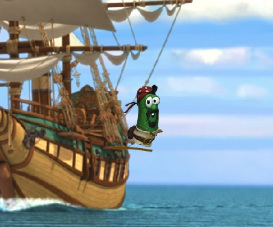 Veggie Tales Corabia de Pirati
